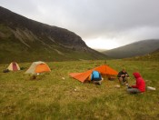 Camp in the Scottish Highlands, June 2013.