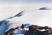 Mount Bowers field site on the Beardmore Glacier, Central Transantarctic Mountains, Antarctica