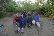 Field Team 2012 summer field season. From left to right: Dolores van der Kolk, Andrea Miller, Peter Flaig, Doug Hissom, Steve Hasiotis.