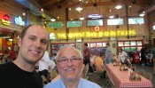 Reed Malin (MA in EER and Public Affairs, 2012) and Dr. Eugenio Figueroa our colleague from the Universidad de Chile enjoy real Texas BBQ!