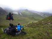 Owen Callahan, Yaser Alzayer, and John Hooker in the Scottish Highlands, June 2013.