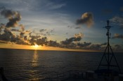 Sunset in the South Pacific