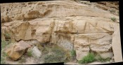 Hummocky cross stratified sandstones of the Kennelworth, book cliffs Utah