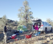Camp on Westgard Pass, eastern California, with Mint Doungkaew and Owen Callahan, June 2015.