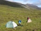 Camp in NW Scotland, June 2011.
