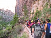 Eolian stratification explained in Zion nat'l park (E. Garza)
